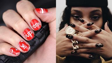 Logo Designer Nails Are Trending Again Following Fashion Week Shows