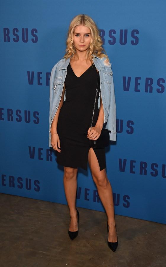 <p>Lottie Moss at Versus Versace