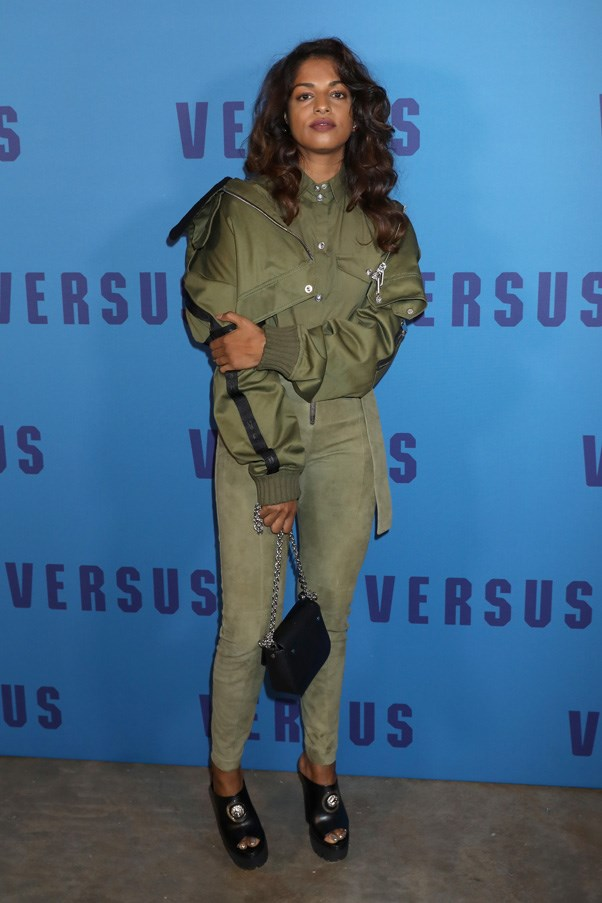 <p>M.I.A. at Versus Versace