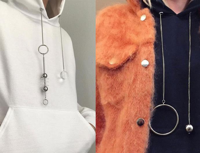 hoodie jewellery