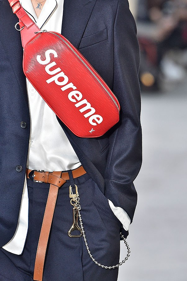 <p><strong>Fanny packs</strong> <p>PSA: Fanny packs are back people. Whether it's the cool-as-hell iterations on the Louis Vuitton menswear runway (famously in collaboration with Supreme) or Kendall Jenner wearing a chic Chanel fanny pack, this trend is surprisingly palatable.