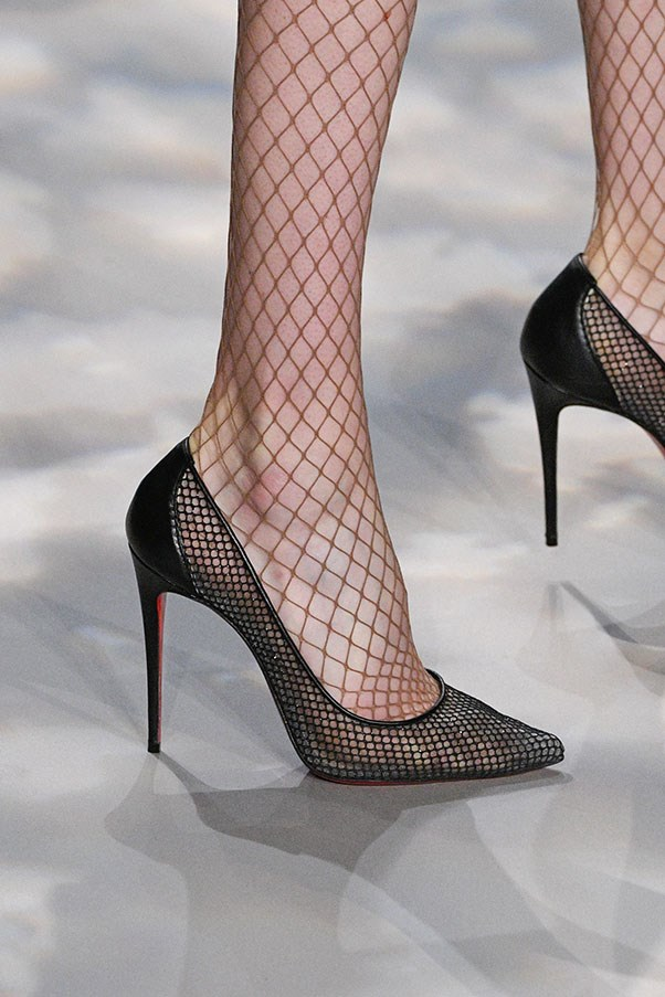 <p> <strong>Fishnets</strong> <p>The Kardashian clan has been experimenting with strange and exciting uses of fishnets (read, worn under ripped jeans), but it's only recently that designers are embracing the look on the runway. Jenny Packham (pictured) kept it subtle and sophisticated while Phillip Lim incorporated fishnet into the clothes themselves.