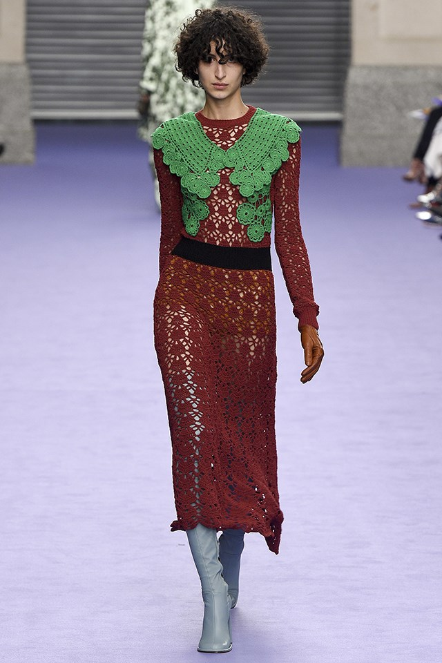 <p> <strong>Mulberry</strong><p> <p> The British heritage brand's new collection was dubbed New Heirlooms, and while the crochet dresses in offbeat colour combinations offered up a modern spin on a '70s staple, it was the thigh-high pastel cuissardes that had us doing a double take. #bootgoals.