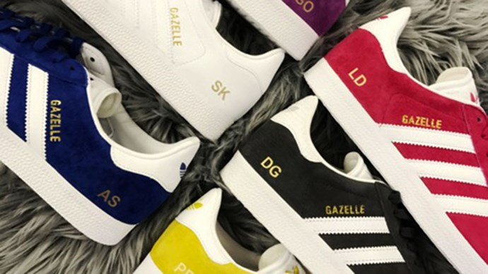Adidas Gazelles monogrammed