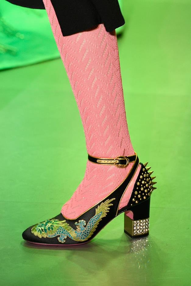 These dragon-stitched Mary-Janes might be the shoe of the season.