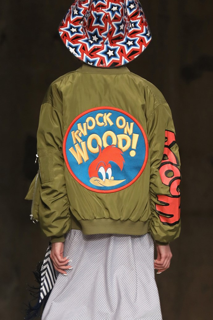 'Knock on wood' jackets at Henry Holland.