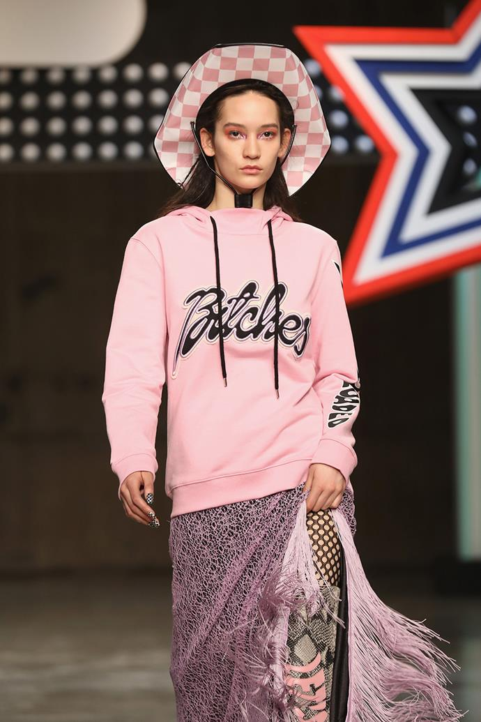 'Bitches' hoodies at Henry Holland.