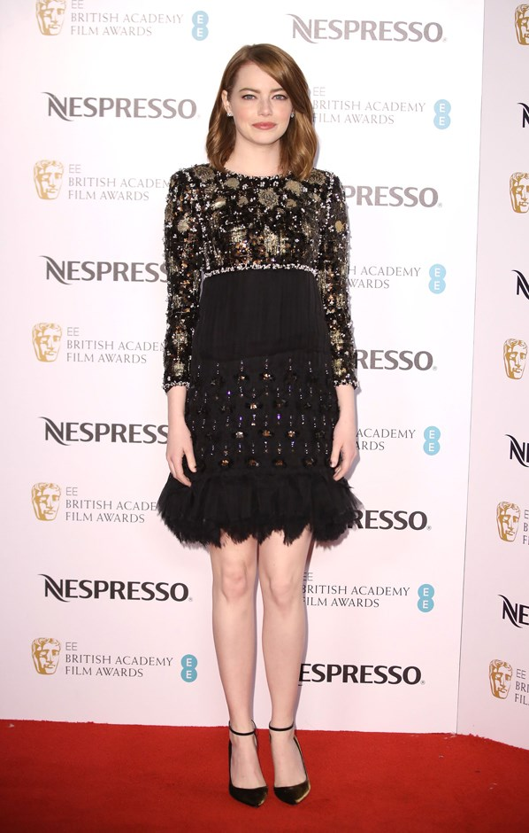 Attending the British Academy Film Awards Nominee Party, Emma donned this sparkly Chanel number.