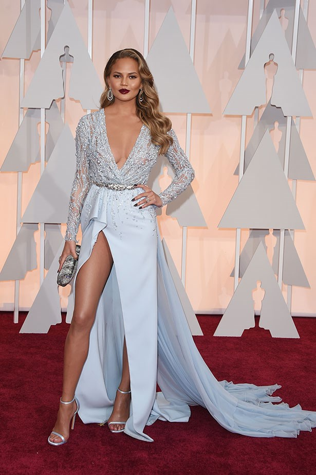 <strong>Chrissy Teigen, 2015</strong><br></br> The award for the most daring dress at the 2015 Oscars went for Chrissy Teigen for this high-cut Zuhair Murad creation. Little did we know back then, the sexy split was set to become Chrissy's signature red carpet style.