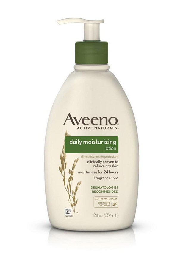 "Aveeno Daily Moisturising Lotion, $9.49, at [Amazon](https://www.amazon.com/dp/B001459IEE/?smid=ATVPDKIKX0DER&tag=rewardstyle-20&linkCode=df0&creative=395093&creativeASIN=B001459IEE&ascsubtag=4HXrGe5PGS-~9EX1e--2938987079&th=1|target=""_blank""