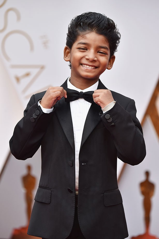 Sunny Pawar looked cute as a button in his suit and (bow) tie.