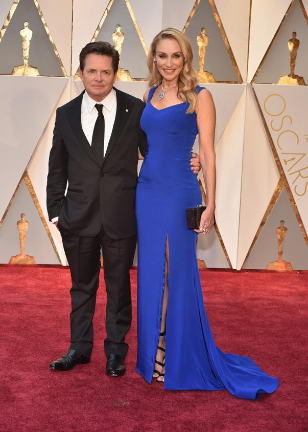 <p>Michael J. Fox and Tracy Pollan