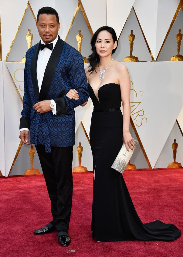 <p>Terrence Howard and Mira Pak