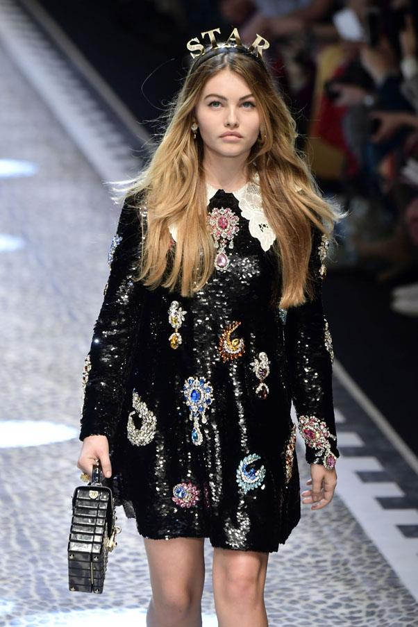 "<p><strong>Thylane Blondeau</strong> <p>The daughter of a French soccer player, <a href=""https://www.instagram.com/thylaneblondeau/?hl=en"">Blondeau </a>walked her first runway (for Gaultier) at age four, and was shooting with Tom Ford by age 10. She's now 15."