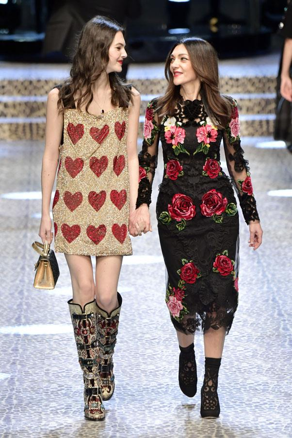 "<p><strong>Vittoria Ceretti and Francesca Lazzari</strong> <p>This Italian <a href=""https://www.instagram.com/vittoceretti/?hl=en"">model </a>got to walk the runway with her mum, a dance teacher and (according to LinkedIn) tango expert. Amazing!"