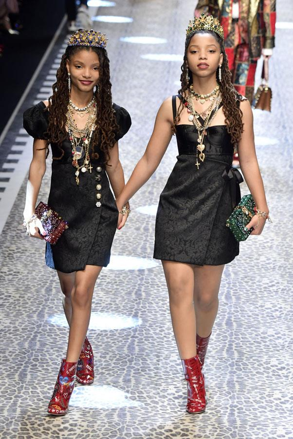<p><strong>Chloe and Halle</strong> <p>Sisters Chloe and Halle Bailey covered Beyoncé on YouTube, got Beyoncé to mentor them, and now are living their truth on the Dolce & Gabbana runway. #AllHail