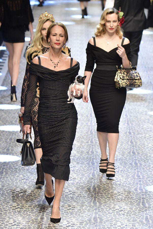<p><strong>Andrea Dellal</strong> <p>The Brazilian-born former model lives in London, where she's close to her daughter Alice who also walked the runway.