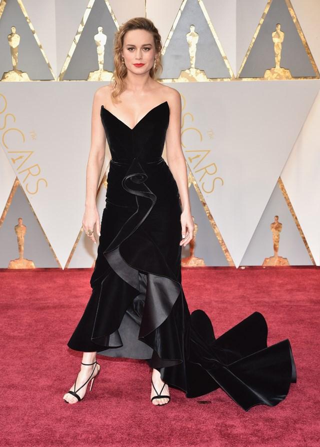 Brie Larson in Oscar de la Renta