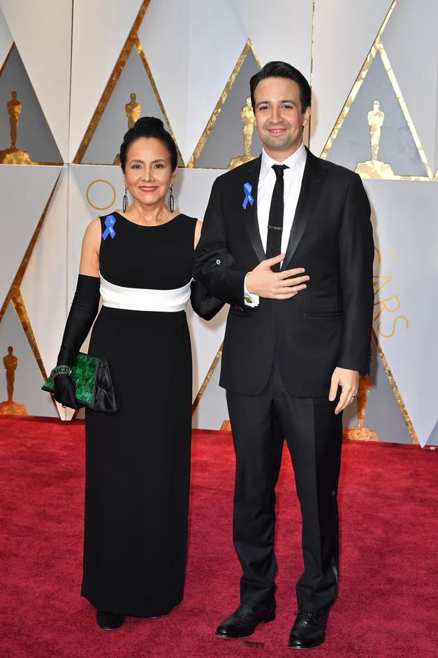 Lin-Manuel Miranda and his cute mother wore them, too.