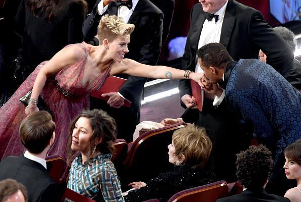Scarlett Johansson Terrence Howard shared a tender moment.