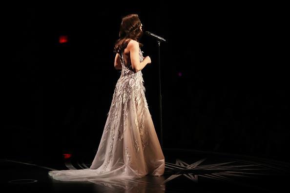 Sara Bareilles' dress was truly breathtaking.