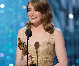 Emma Stone at the 2017 Oscars.