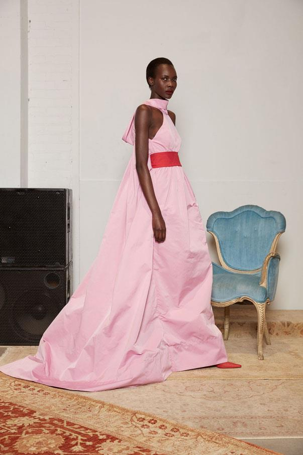 <strong>PISCES</strong> <br><br> Easy: pink! It's still soft and pretty, but the formerly reserved-for-girls colour has recently taken on a new significance too. For whatever reason you wear it, Rosie Assoulin's halter gown is the ultimate.
