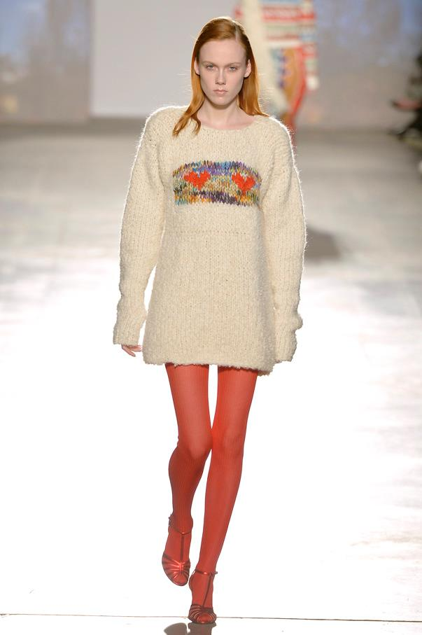 <strong>5. Missoni</strong> <br><br> When guests arrived at Angela Missoni's show they weren't only met with lunch bags and water bottles (hey, fashion week can be tough-going) - they also found a knitted pink pussy hat on their seat. Similar beanies made an appearance on the runway at the close of the show when the Missoni family joined a mass of models all wearing the headgear in support of equal rights. This cheeky nod to Instagram's no nipples policy was a collection highlight.