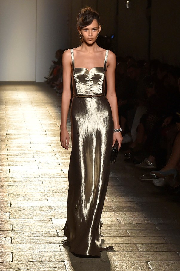 <strong>6. Bottega Veneta</strong> <br><br> If there's a brand to personify polished elegance it's Bottega Veneta and this season just reinforced the point. While the cut and fabrication of luxurious outerwear and separates was second to none, it was the Old Hollywood gold gown (an Oscar's nod?) that emerged at the end on a stunning Binx Walton that truly stole the show.