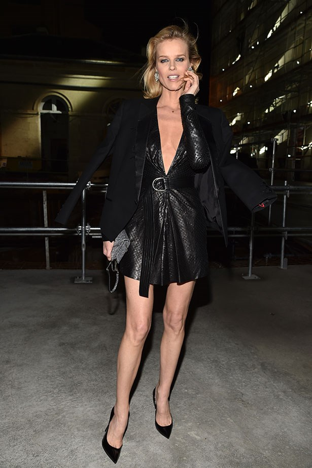 Eva Herzigova at Saint Laurent.