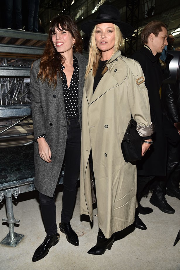 Lou Doillon and Kate Moss at Saint Laurent.