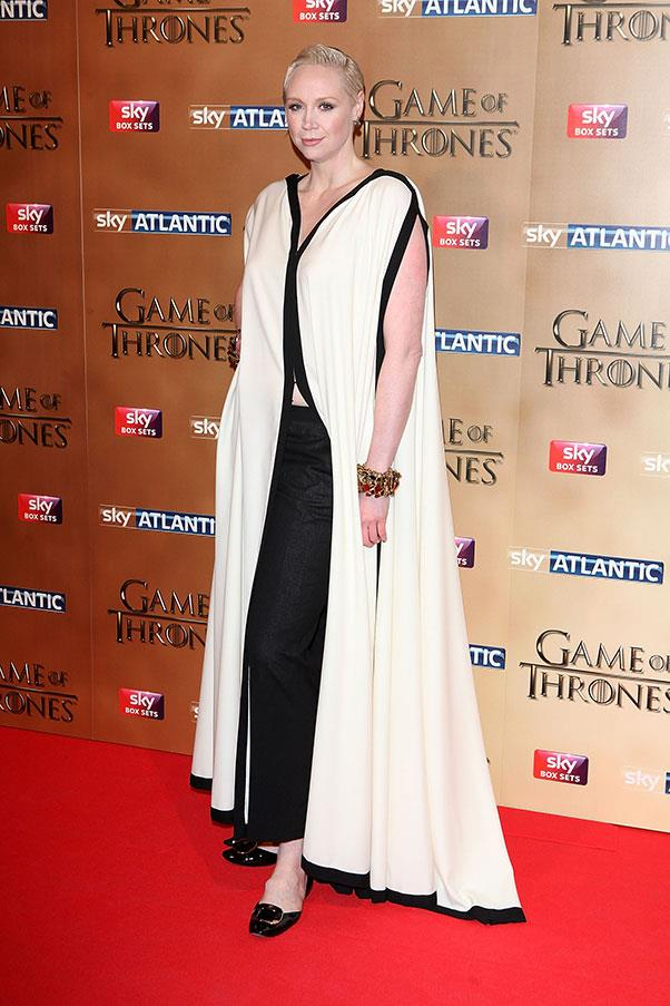 <p> Gwendoline Christie at the premiere of <em>Game Of Thrones</em> season five, March 2015.
