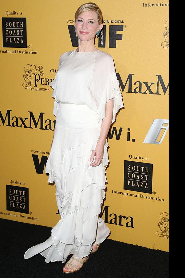 <p>Cate Blanchett at the Crystal + Lucy awards, June 2014.