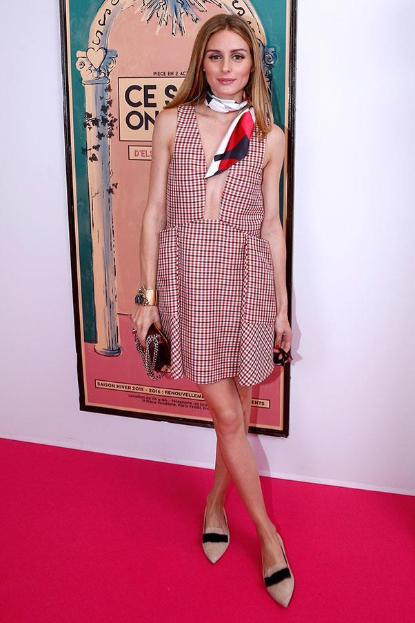 <p>Olivia Palermo at Schiaparelli haute couture, June 2015.