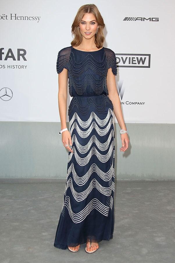 <p>Karlie Kloss at the amfAR Cinema Against AIDS gala, May 2014.
