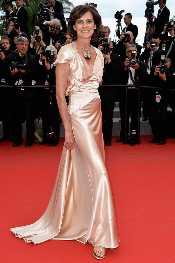 Ines de la Fressange at Cannes, May 2015.