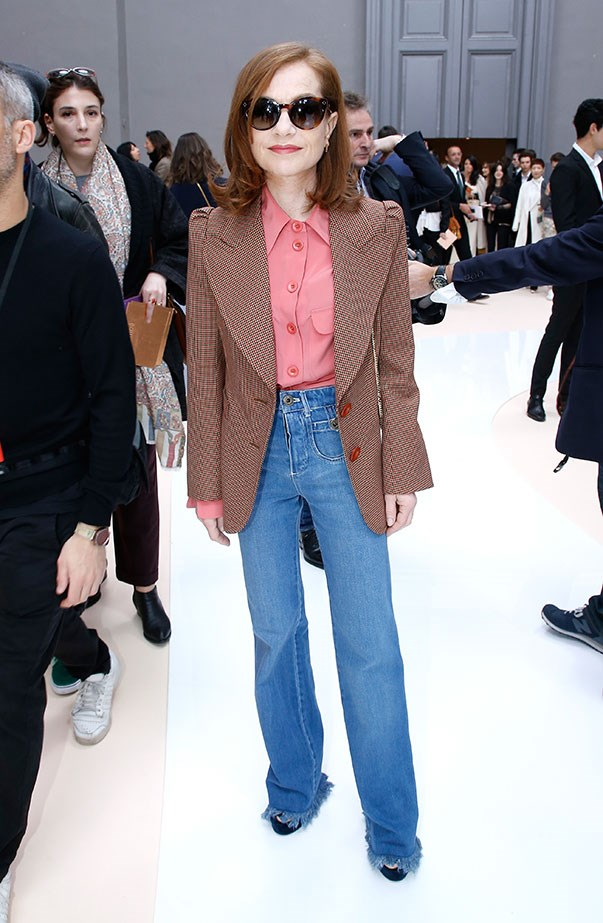 Isabelle Hupert at Chloé.