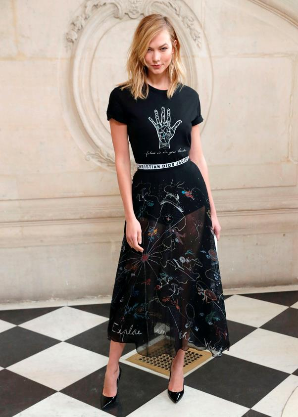 <p>Karlie Kloss in Dior