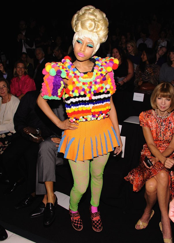 <p>Nicki Minaj at Carolina Herrera spring/summer 2012