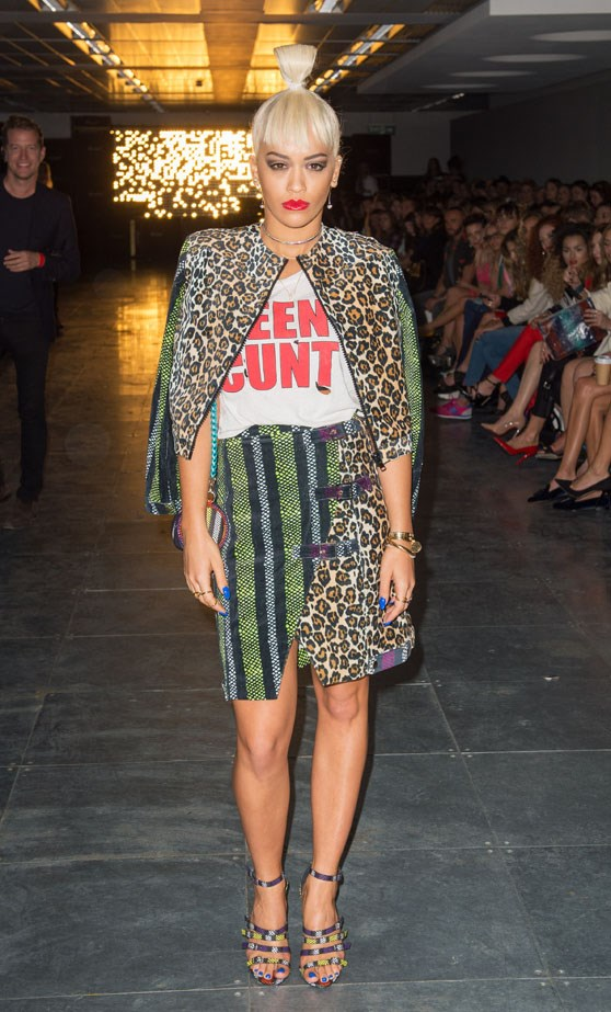 <p>Rita Ora at House of Holland spring/summer 2015