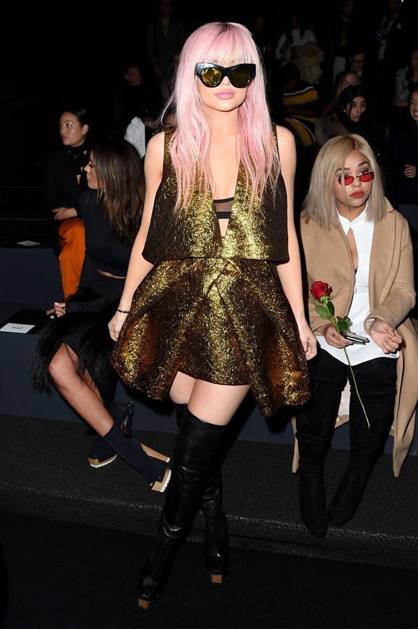 <p>Kylie Jenner at Vera Wang autumn 2016
