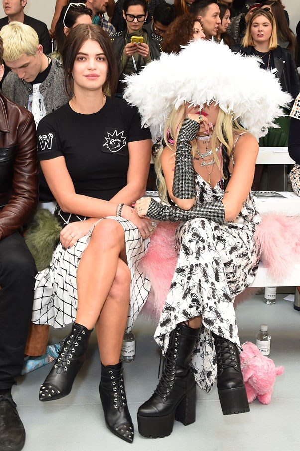<p>Pixie Geldof and Brooke Candy at Ashley Williams autumn/winter 2017