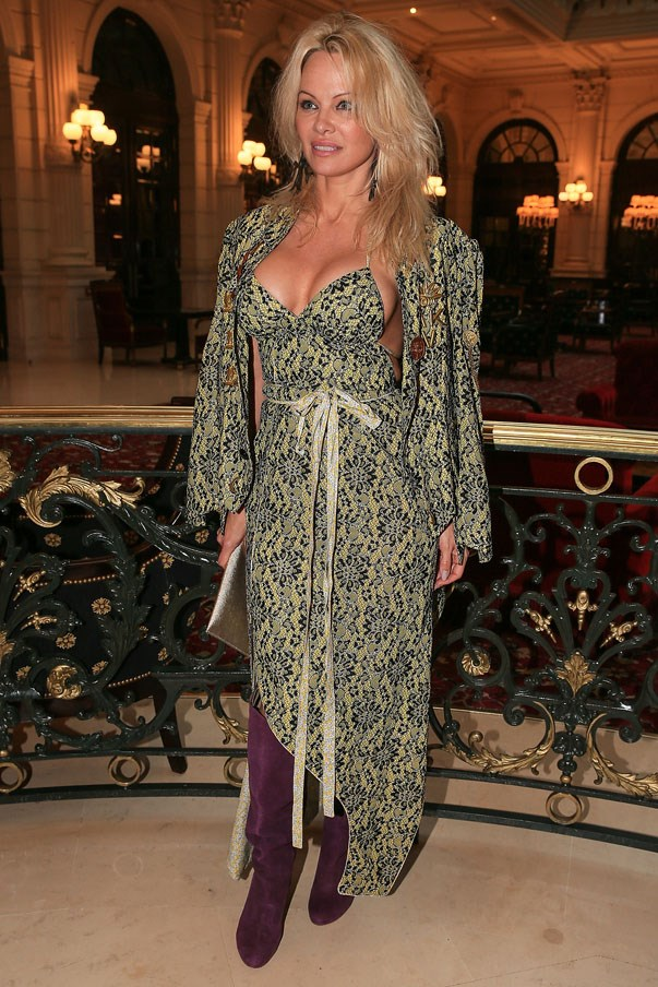 <p>Pamela Anderson at Vivienne Westwood autumn/winter 2017/18