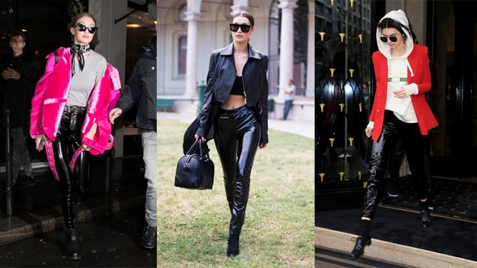 patent leather trousers trend