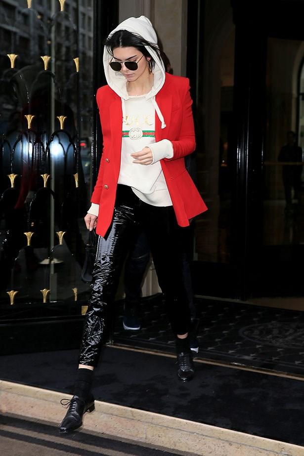 Kendall Jenner at Paris fashion week.