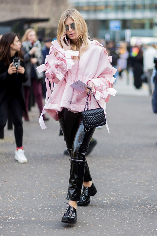 Street style at London fashion week A/W '17.