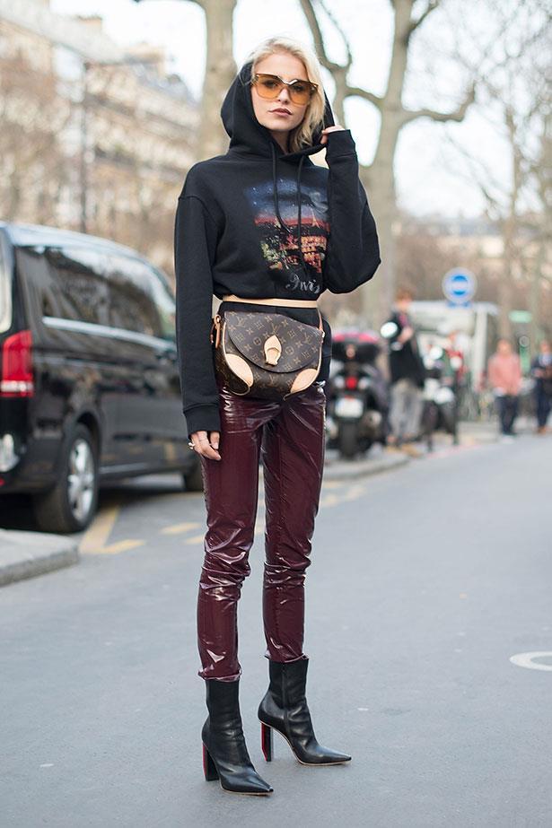 Street style at Paris fashion week A/W /17.