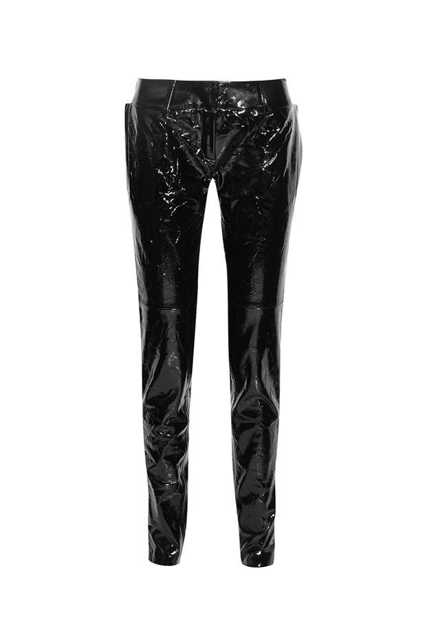 "Pants, $2,788, Ronald Van Der Kemp at <a href=""https://www.net-a-porter.com/au/en/product/825808/ronald_van_der_kemp/crinkled-patent-leather-straight-leg-pants"">Net-A-Porter</a>."