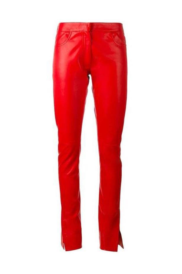 "Pants, $3,869 (approx.), Loewe at <a href=""https://www.brownsfashion.com/au/shopping/straight-leather-pants-11566773?size=&storeId=9359&utm_source=LinkshareUK&utm_medium=Affiliate&utm_campaign=gcdL%2FATRVoE&utm_content=15&utm_term=UKNetwork&ranMID=35118&ranEAID=gcdL%2FATRVoE&ranSiteID=gcdL_ATRVoE-Iqi0kRhracyKX2njD5Q6JA"">Browns Fashion</a>."