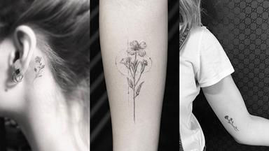 28 Tiny Floral Tattoos You'll Definitely Want On Your Body